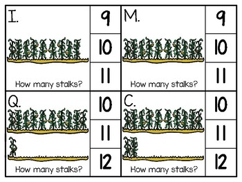 just add clips: clip cards_1 to 20_corn stalks