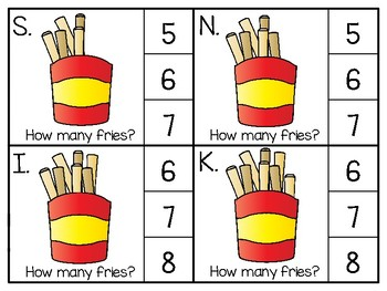 just add clips: clip cards_1 to 20_french fries