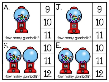 just add clips: clip cards_1 to 20_gumballs