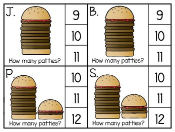 just add clips: clip cards_1 to 20_hamburger patties