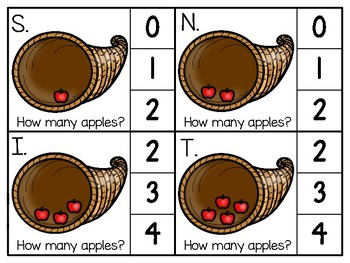 just add clips: clip cards_1 to 20_horn of plenty apples theme