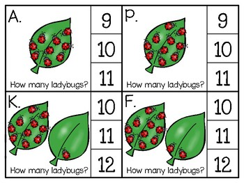 just add clips: clip cards_1 to 20_ladybugs