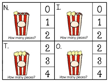 just add clips: clip cards_1 to 20_popcorn