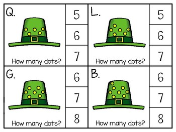 just add clips: clip cards_1 to 20_st. patrick's day hat spots