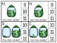 just add clips: clip cards_1 to 20_st. patrick's day_shamrock candy