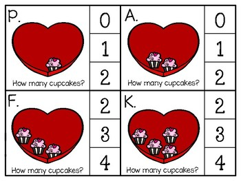 just add clips: clip cards_1 to 20_valentine cupcakes