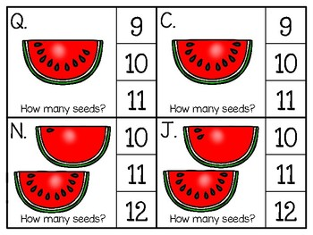 just add clips: clip cards_1 to 20_watermelon seeds