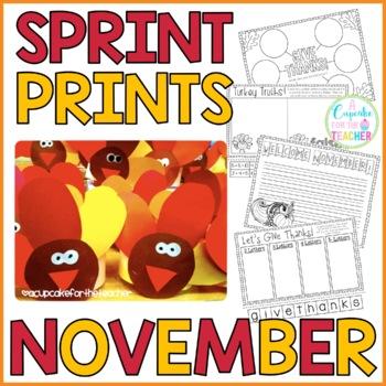 Sprint Prints! November {Printables & Craftivity}