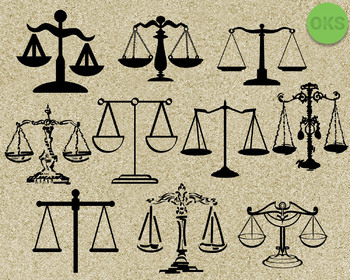 justice scale SVG cut files, DXF, vector EPS cutting file instant download