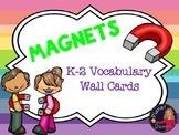 k-2 Physical Science Magnets Word Wall Vocabulary Cards