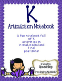 /k/ Articulation Notebook!