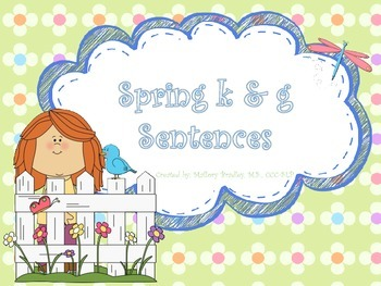 /k/ and /g/ Spring Artic/Language Sentences & Activities for Speech Therapy