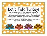 Turkey Talk /k & g/ cards: Speech Intervention, Phonologic