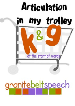 k & g In My Trolley Articulation Game