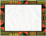 kente cloth clip art border-color