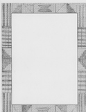 kente cloth clip art border-gray