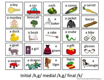 /k,g/ Sentence Practice