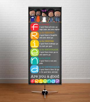 kids of color CHALK {melonheadz} - Decor: LARGE BANNER, FRIEND - BOLD