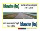 kilometer/kilometro meas 1-way blue/verde