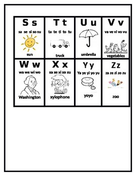 kinder sounds flash cards