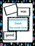 kindergarten DOLCH site words cards!