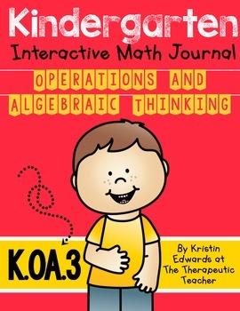 kindergarten Interactive Math Journal {K.OA.3}