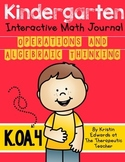 kindergarten Interactive Math Journal {K.OA.4}