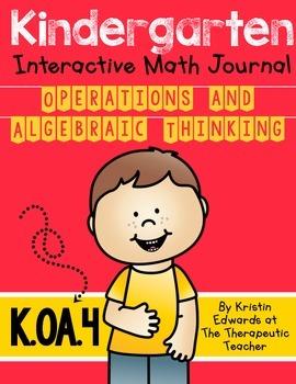 kindergarten Interactive Math Journal {K.OA.4}