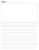 kindergarten Journal writing paper Calkins No top line pap