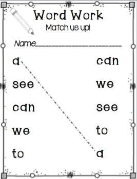 kindergarten Journeys Word Work