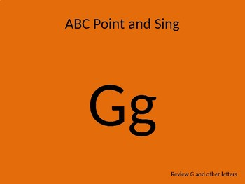 kindergarten Pathways to Reading powerpoint Day 3 letter Gg