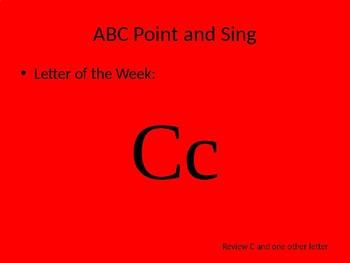 kindergarten Pathways to Reading powerpoint Day 4 letter Cc