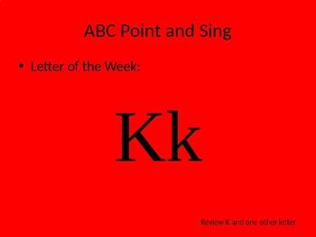 kindergarten Pathways to Reading powerpoint Day 4 letter Kk