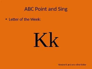 kindergarten Pathways to Reading powerpoint Day 2 letter Kk