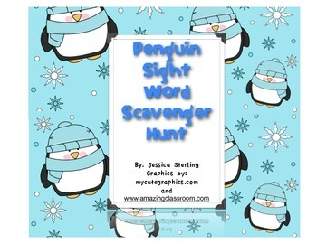 kindergarten Penguin Scavenger Hunt