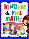 kindergarten and year 1 maths products