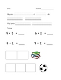 kindergarten daily warm ups- Spanish set 2