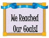 kindergarten goals wall