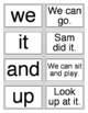 kindergarten sight word work