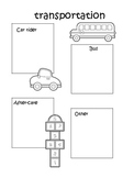 kindergarten transportation template
