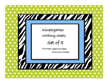kindergarten writing sheets