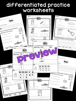 kn Phoneme Book & Poster Pack with Phonics Practice
