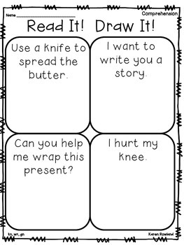 kn, wr, gn - ghost letter words - fluency and comprehension