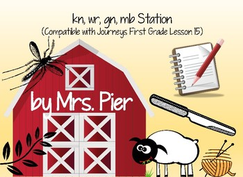 kn,wr, gn, mb Station (Compatible with Journey First Grade Lesson 15)