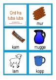 kort med ord og bilde