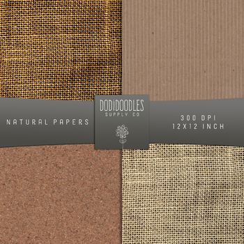 kraft digital paper, natural burlap papers, cardboard, corkboard paper