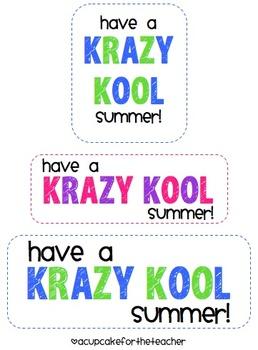 photograph relating to Have a Kool Summer Printable called Krazy Kool Reward Tags Freebie