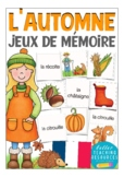 l´AUTOMNE (autumn / fall) - French matching cards jeu de m