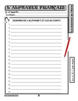 l'Alphabet Français et Les Accents / The French Alphabet and the Accents