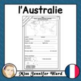 l'Australie / Australia French Worksheet